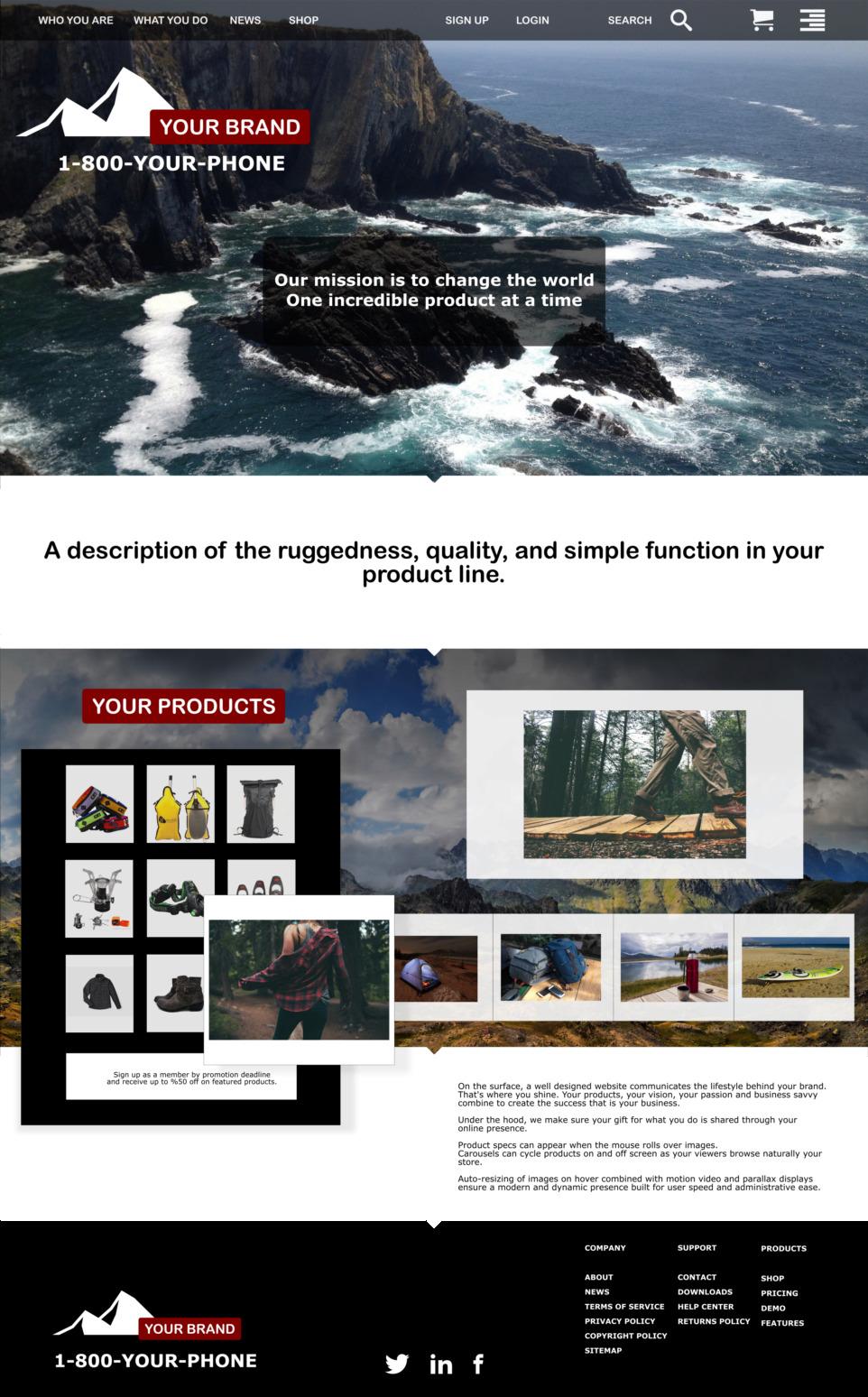 sample mock-up wireframe websites vancouver build hello