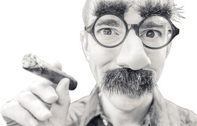 Smart Boss, With Glasses, Cigar, and Moustache